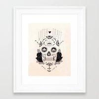 dia de los muertos Framed Art Prints featuring Dia de los muertos by Thrashin