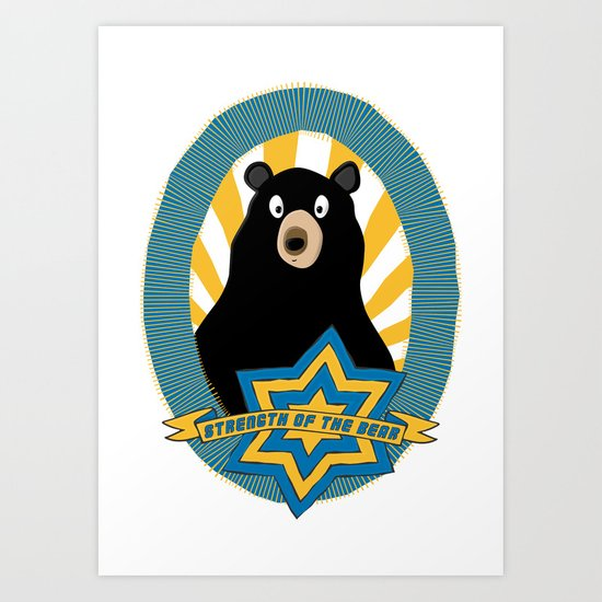 Strength of the bear! Art Print