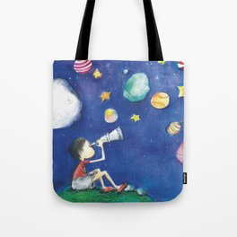 Stars and little planets Tote Bag