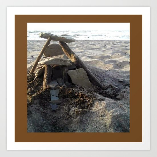 House on the Beach... Art Print