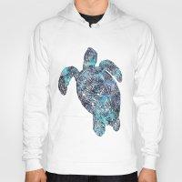 sea turtle Hoodies featuring Sea Turtle by LebensART