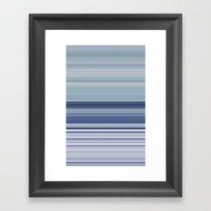 blue morning Framed Art Print