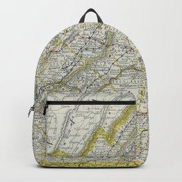 Vintage Map of Virginia (1889) Backpack