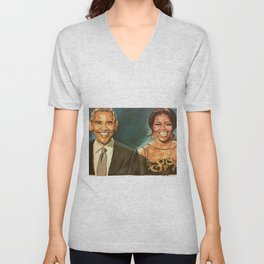 Barack & Michelle Obama Unisex V-Neck