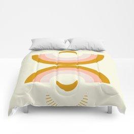 Moon rainbow Comforters