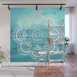 Mandala : Aqua Sunset Waters Wall Mural