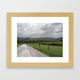 Stormy Mountain Road Framed Art Print