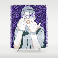 ape Shower Curtains featuring Keith Ape by TecTecBeurk