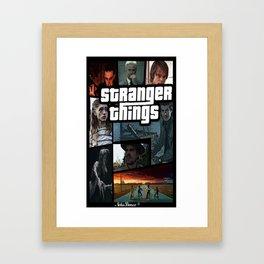 Grand theft things Framed Art Print