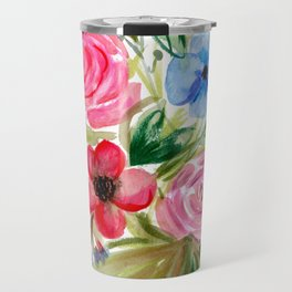 Watercolor Floral Bouquet No. 1 Travel Mug