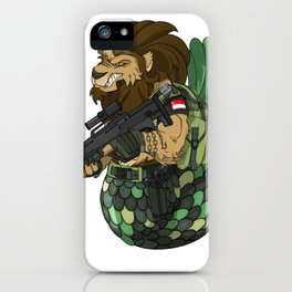 Merlion - Mermaid and Lion Singapore Navy Gift iPhone Case