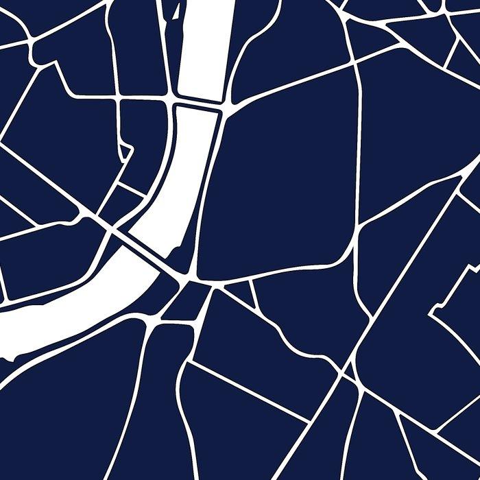Navy on White London Street Map Leggings