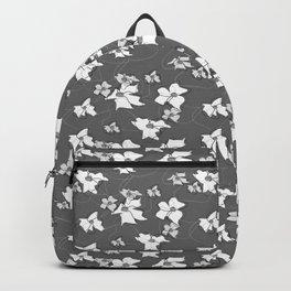 Flying Flowers grey Backpack