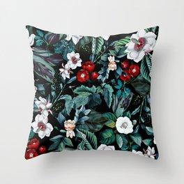 Midnight Garden V Throw Pillow