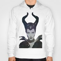 maleficent Hoodies featuring Maleficent by Esco