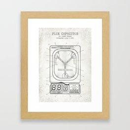 Fluc capacitor old canvas Framed Art Print