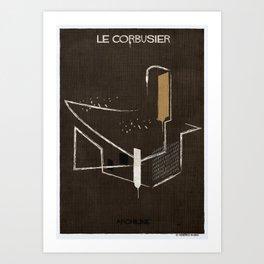 03_Archiline- le corbusier Art Print