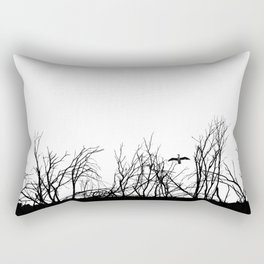 The big bird in the dry trees Rectangular Pillow