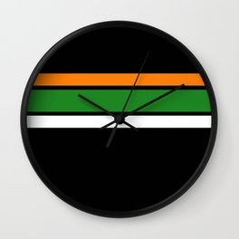 Team Colors 2,,,,orange,green Wall Clock