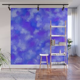 Abstract Clouds - Rich Royal Blue Wall Mural