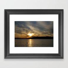 Let's watch the sun go down Framed Art Print