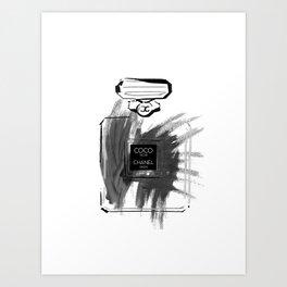 Black perfume #2 Art Print
