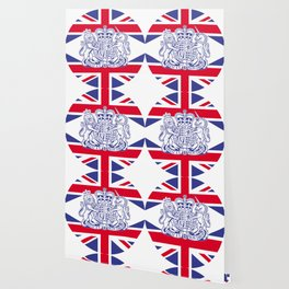 UK coat of arms and flag Wallpaper