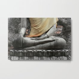 How to Sit Metal Print