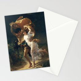 The Storm by Pierre-Auguste Cot 1880, French Stationery Cards