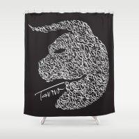 taurus Shower Curtains featuring Taurus by freebornline