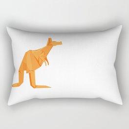 Origami Kangaroo Rectangular Pillow