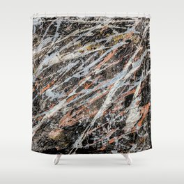 Copper Ore painting Shower Curtain