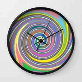 Rainbow swirl pattern Wall Clock