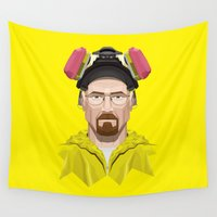 lab Wall Tapestries featuring Breaking Bad - Walter White in Lab Gear by Mr. Peruca