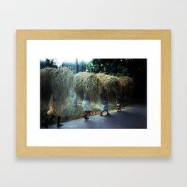 Haystacks, Goa, India Framed Art Print