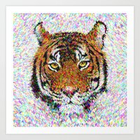 tiger Art Prints featuring Tiger by David Zydd
