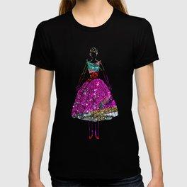 Audrey Pink Glitter Dress T-shirt