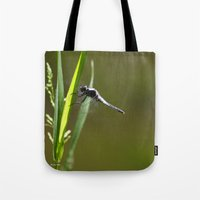 dragonfly Tote Bags featuring Dragonfly by Christina Rollo