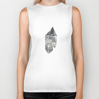 crystal Biker Tanks featuring Crystal by Beatricepl