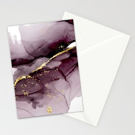 Painting watercolor geometric Stationery Cards