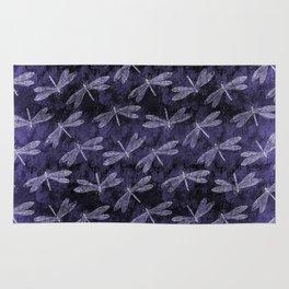 Purple Dragonfly Twighlight Dance Rug