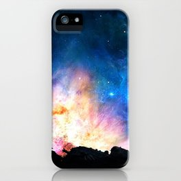 over the galaxy iPhone Case