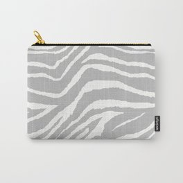 ZEBRA GRAY AND WHITE ANIMAL PRINT 2019 Carry-All Pouch