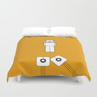 lab Duvet Covers featuring Lab Man by Artricca