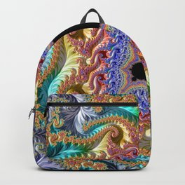 Colorful Slopes Mandelbrot Fractal Backpack