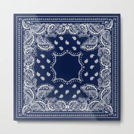 Bandana - Navy Blue - Boho Metal Print