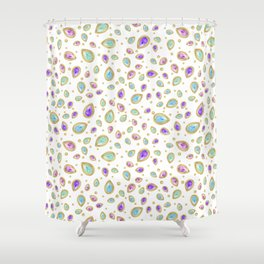Colored diamonds (white) Shower Curtain