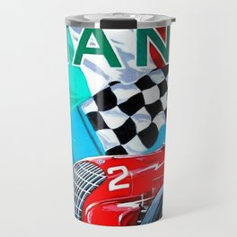 1939 Italian Grand Prix Motor Racing Coppa Ciano Alfa Corse Vintage Poster Travel Mug