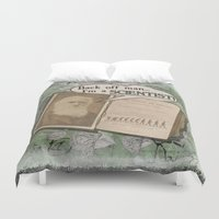 "darwin Duvet Covers featuring Charles Darwin: ""Back off man, I'm a SCIENTIST!"" by ImpART by Torg"
