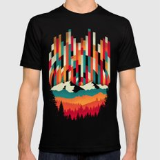 Sunset in Vertical Multicolor Black Mens Fitted Tee MEDIUM